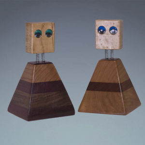 handcrafted wooden dolls