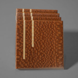 Handcrafted Leopard wood coasters Alans fine woodworking