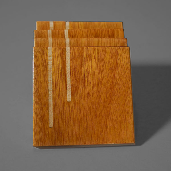 handcrafted osage orange wooden coaster